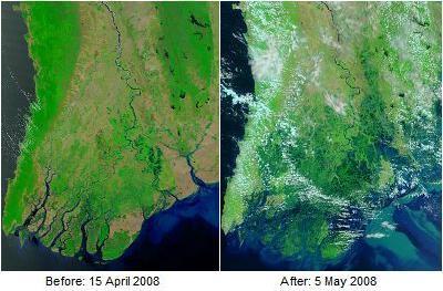 Birmania ciclón Nargis